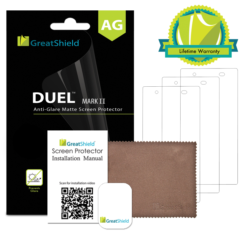 GreatShield DUEL Mark II Anti-Glare Matte Screen Protector for Sony Xperia Z1S (T-Mobile) - 3 Pack at Sears.com