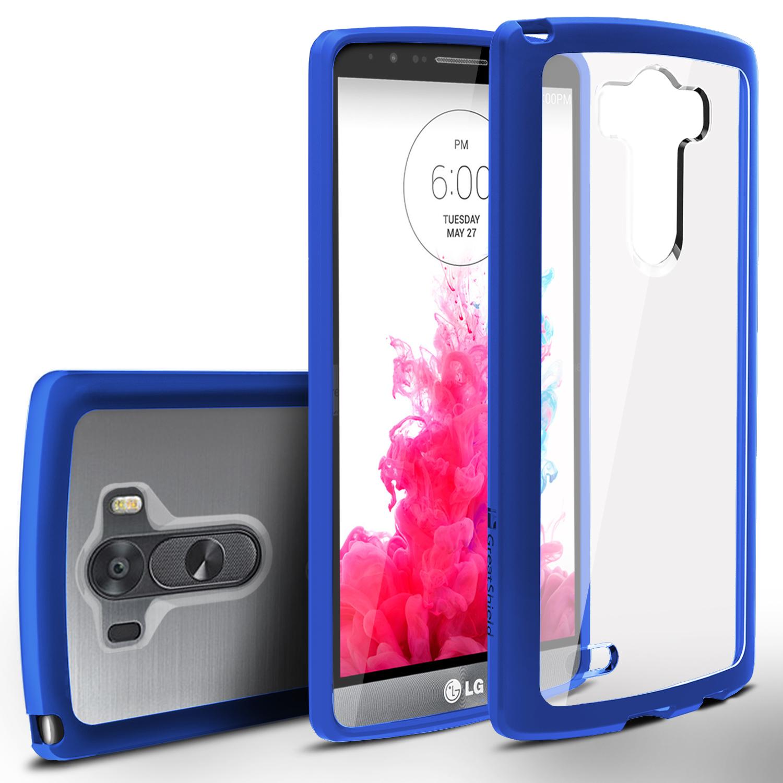 GreatShield LG G3 2014 Ultra Slim Hybrid Shockproof Clear Back Bumper Case Cover